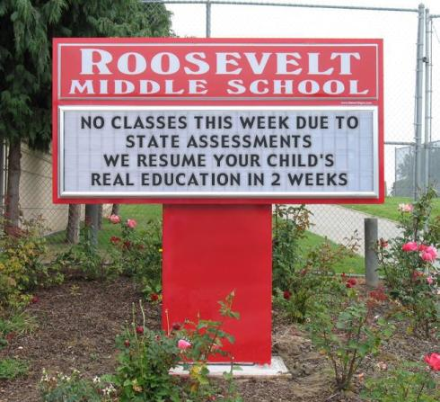 Assessments and Real Education