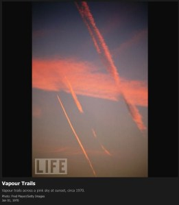Contrails in the 1970s
