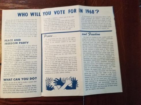 Peace and Freedom Party pamphlet 2