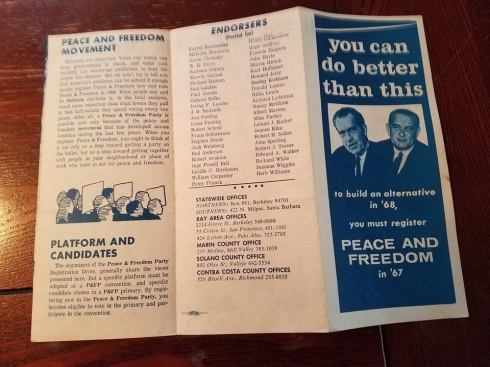 Peace and Freedom Party pamphlet
